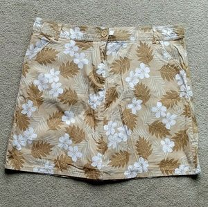 White Stag Brown Tropical Floral Athletic Skort 14